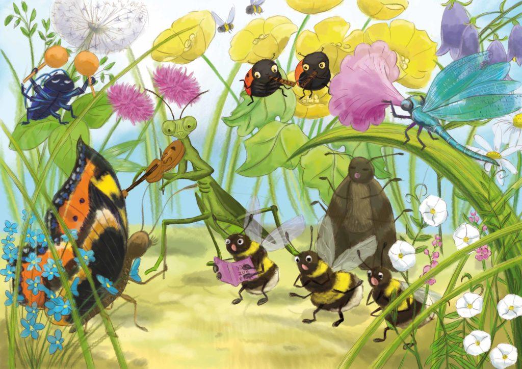 """Orkiestra owadów gra """"Odę do radości"""""""